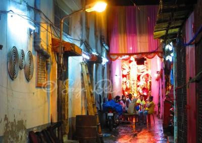 Ünnepi fények Kolkatában