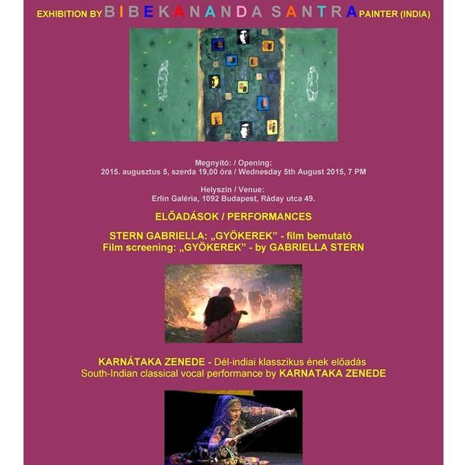 Bibekananda Santra festőművész (India) kiállítás megnyitója