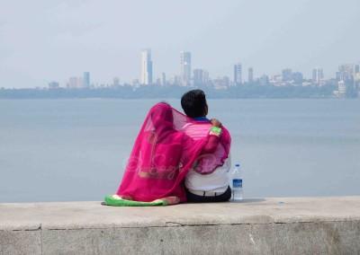 Pár a Marine Drive-on, Mumbaí