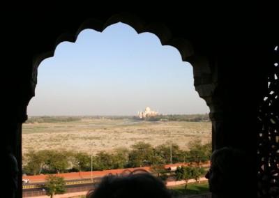 Taj Mahal távolból